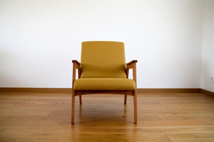 Yellow coctail armchair.