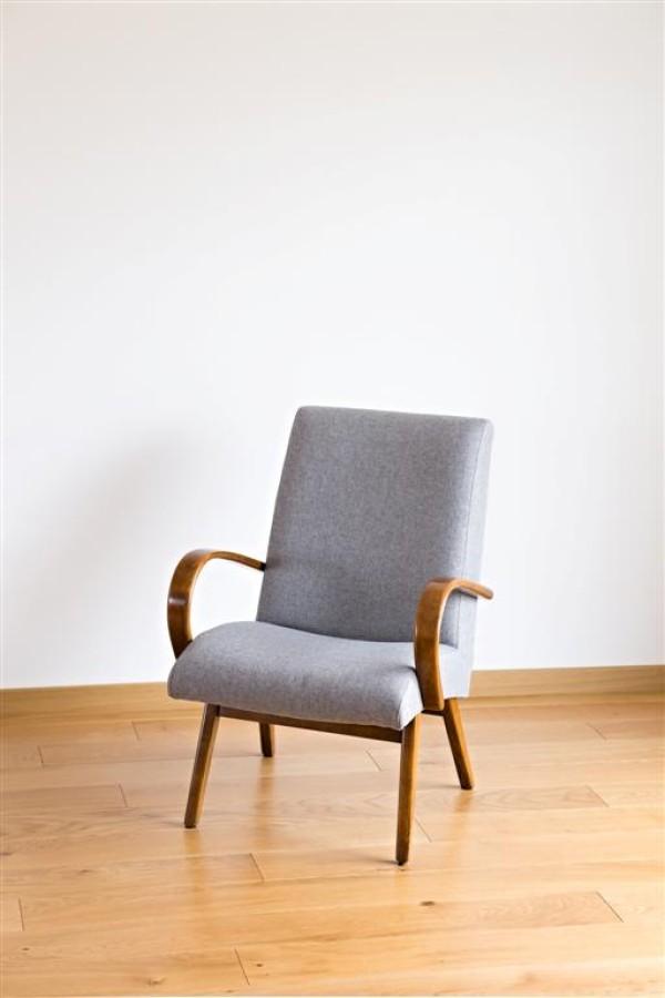 Czech armchair. Jindrich Halabala style. 1950